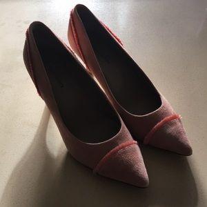 """Shoes - DONALD PLINER """" Floe"""" rose/rose gold suede pumps"""